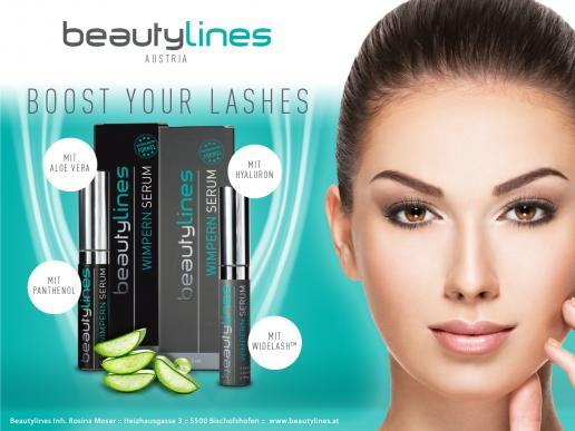 Beautylines Wimpernwachstumsserum